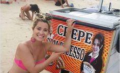 Curitibana vai passar férias no RN e descobre que foto sua ilustra carrinhos de crepes