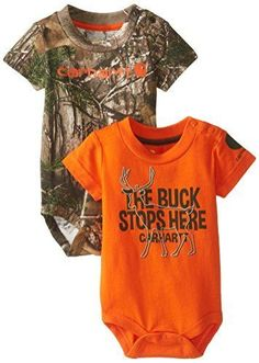 Carhartt Baby-Boys Infant 2 Pack Bodysuit Camo and Buck Print, http://www.amazon.com/dp/B00RXCPUHQ/ref=cm_sw_r_pi_awdl_jR7-ub0HBW5F3