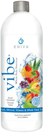 """What is VIBE!  28 Fresh Fruits & Vegetables 133,000 ORAC Rating 16 Essential Minerals 12 Natural Vitamins 6 Amino acids 5 Cups of Green Tea Protein (no caffeine) Cold processed Non-pasteurized None Irradiated Gluten Free Structured Water  Clinically tested... http://www.enivanutraceutics.com/ All In One, """"Single Liquid Ounce"""" The most amazing wellness product you don't know about. Change your life with one simple ounce. Want to change your life ? Its time to try Vibe. GET VIBE! GOT VIBE!"""