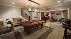 Transitional Game Room with Pendant Light, High ceiling, Crown molding, Hardwood floors, Carpet Transitional Games, Community Picture, Us Real Estate, Keller Williams Realty, Home Photo, Model Homes, Home Decor Inspiration, Game Room, Decorating Your Home