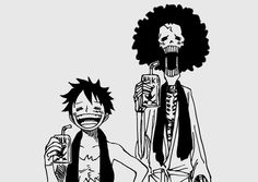 Luffy and Brook