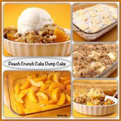 Peach Crunch Cake Dump Cake ~ Recipe of today