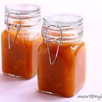 Narancslekvár,mint gasztroajándék Pudding Cups, Hungarian Recipes, Hot Sauce Bottles, Jelly, Salsa, Mason Jars, Mint, Tableware, Food