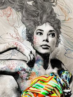 Gabriel Moreno - I love the mix of media going on here