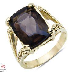 Etsy NissoniJewelry presents - Smokey Quartz Fashion Ring 10k Yellow Gold    Model Number:CG-4576Y0SMQ    https://www.etsy.com/ru/listing/275618082/smokey-quartz-fashion-ring-10k-yellow