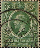 British East Africa and Uganda 1912 King George V SG 45 Fine Used Scott 41 Other KUT Stamps HERE