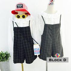 Check Jumper Shorts - Block D | YESSTYLE