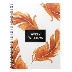 Autumn Feathers Watercolor Illustration Notebook   first day of school fun, first day of school projects, school helps #backtoschooltomorrow #backtoschoolcolor #backtoschoolxHuawei, back to school, aesthetic wallpaper, y2k fashion Back To School Highschool, Back To School Hacks, School Tips, First Day Of School, School Fun, School Ideas, School Notebooks, Custom Notebooks, School Lunches