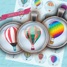 Hot-air balloon flying balloons  digital collage by GraphicsPaper