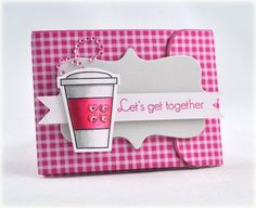 Love the coloring on the cup ;-) Gift Card holder by Debbie Olson for Papertrey Ink (February 2012).