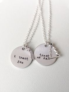 Twitches necklace a anime disney movies video games tv shows gravity falls dipper pines mabel pines trust no one couples necklace bff necklace couples jewelry christmas gift dipper and mabel mozeypictures Choice Image