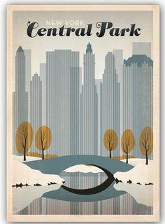 Vintage Central Park poster