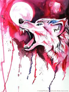 wolf art pictures | Blood Wolf by *Lucky978 on deviantART