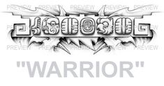 WARRIOR Mayan Glyphs Tattoo Design B » ₪ AZTEC TATTOOS ₪ Aztec Mayan Inca Tattoo Designs Instant Download
