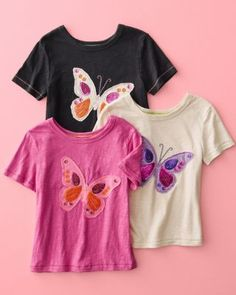 Sequin Butterfly Tee by Morgan & Milo - Girls