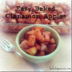 Easy baked cinnamon apples. Nailed it. I used green apples and replaced the lemon with vanilla. Husband scarfed it down