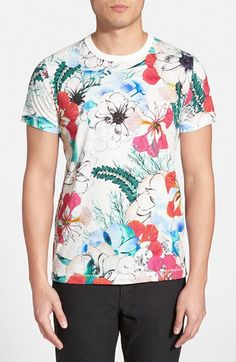 Men's French Connection 'Floral Reef' Graphic T-Shirt