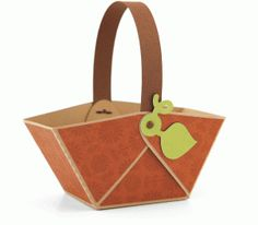 3d no-glue pumpkim treat basket-----------------Silhouette Online Store: 3d no-glue pumpkin treat basket