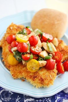 Whip up this super-easy and delicious dinner some weeknight, or even for a dinner party, and serve it with a hunk of garlic bread and salad. You're guaranteed to love this crispy parmesan chicken cutlets with tomato-mozzarella salad.