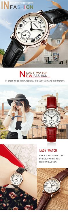 SANDA P206 Kvinner Quartz Watch Quartz Watch, Women Jewelry, Watches, Lady, Accessories, Fashion, Moda, Wristwatches, Fashion Styles