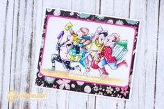 Art Impressions Rubber Stamps: Ai Girlfriends: Shop Set (Sku#4545) ... handmade card.