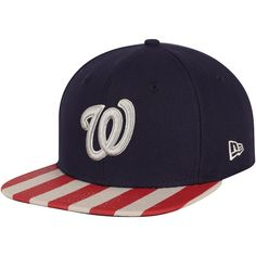 Men s Washington Nationals New Era Navy Red Fully Flagged 9FIFTY Adjustable  Hat 4535faccfcf5