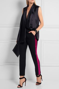 Haider Ackermann | Satin-trimmed wool straight-leg pants | NET-A-PORTER.COM