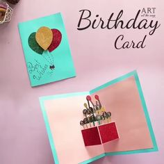 diy birthday cards for friends Creative Birthday Cards, Birthday Cards For Friends, Bday Cards, Handmade Birthday Cards, Happy Birthday Diy Card, Birthday Crafts, Diy Birthday Envelope, Diy Handmade Cards, Ideas For Birthday Cards
