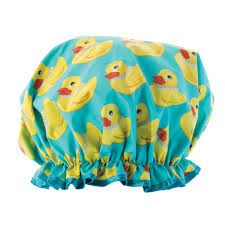 Take a look at this Blue Rubber Duck Shower Cap by Upper Canada Soap on today! Baby Shower Cap, Best Cleaning Products, You're My Favorite, Weird And Wonderful, Cool Baby Stuff, Rubber Duck, Her Hair, Pattern, Fun