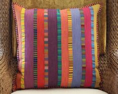 Beautiful pillows with Kaffe stripes And shot cottons
