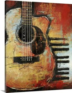 Acoustic Cutaway Canvas Art - Bruce Langton x Click visit above for more options Guitar Drawing, Guitar Painting, Music Painting, Guitar Art, Art Music, Painting & Drawing, Guitar Tattoo, Guitar Room, Guitar Songs