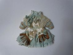 """Gorgeous tiny french Couturier Bebe Dress Petticoat Hat for 11"""" - 12"""" from believe on Ruby Lane"""