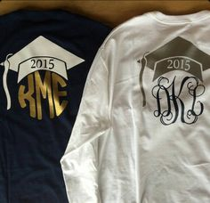Heat Transfer Vinyl Monogram Graduation by SouthernBelleCr8tion