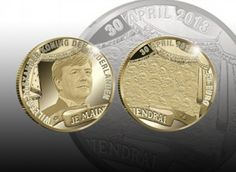 A new series of Dutch coins were announced on April 16th to commemorate the investiture of King Willem-Alexander, who becomes the new Dutch head of state on the 30th April 2013. Willem-Alexander,the Prince of Orange of the Netherlands, will becomes King on April 30th after his mother Queen Beatrix