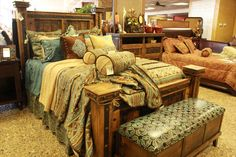 More great bedrooms and decor at Tin Star Furniture! Let us help you design the perfect bedroom.