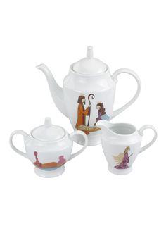 A Loja do Gato Preto | Conjunto 3 Peças de Chá Presépio #alojadogatopreto