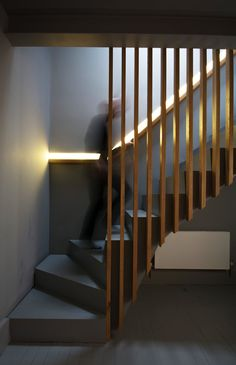 Basement stairs handrail staircase design 55 new Ideas Home Stairs Design, Railing Design, Interior Stairs, Interior Architecture, House Design, Interior Design, Staircase Design Modern, Stair Design, Modern Stair Railing