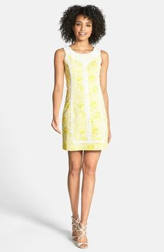 b0aac65c923a Lilly Pulitzer® Print Lace Trim Cotton Shift Dress available at  Nordstrom  Shades Of Yellow