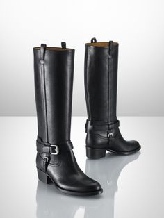 $1100 Isareen Vachetta Riding Boot - Ralph Lauren Collection Collection Shoes - RalphLauren.com