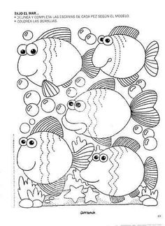 mar - Emma Marty - Álbuns da web do Picasa Colouring Pages, Coloring Pages For Kids, Coloring Sheets, Coloring Books, Tracing Worksheets, Preschool Worksheets, Pre Writing, Writing Skills, Motor Activities