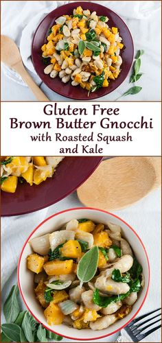 Brown Butter Gnocchi with Roasted Squash and Kale - Seasoned Sprinkles Roasted Squash, Butternut Squash, Vegetable Seasoning, Dumpling, Brown Butter, Gnocchi, Kale, Food Print