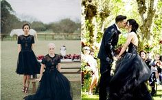 black wedding dresses and gowns