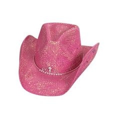 95ce11ab851a0 Peter Grimm Ltd Women s Rockabilly Tiara Straw Cowgirl Hat Pink One Size