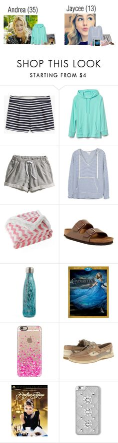 """3.31.17~Flight to Fort Meyers Florida"" by monroe-polyfam ❤ liked on Polyvore featuring J.Crew, Gap, H&M, Soft Joie, Lala + Bash, Birkenstock, S'well, Casetify, Sperry and Tiffany & Co."