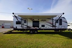 "TAKE CAMPING TRIPS TO THE MAX!!!  2017 Cruiser Stryker 2916 Haul your biggest of toys with up to 16' of garage space! This garage holds dual sofas and an electric bed that lowers for a convenient dining and sleeping setup! Come on down for the tour of this 35'11"" long and 8,133 lb. Stryker 2916, and test out the sturdiness of the rear ramp, which makes loading up easy! Give our Stryker expert Ed Geerlings a call 850-502-7721 for pricing and more information."