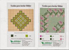 Bordado Passo a Passo: Diagramas para bordar em tecido xadrez