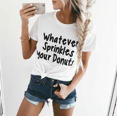 Plant Based T-Shirt Gift Short Sleeve T-shirt tshirt women Ladies Unisex Crewneck Shirt Cute Vegan T-shirt Funny Vegan Shirt by ClothingByShane Looks Style, My Style, Crew Neck Shirt, Look At You, Cute Woman, Mode Inspiration, Look Cool, Swagg, Lady