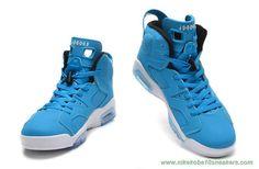 205335-484 Blue/White AIR JORDAN 6 RETRO