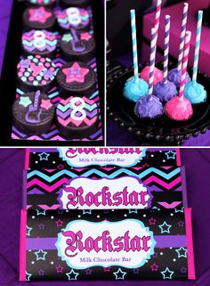 Bright & Girly Rockstar Birthday Party