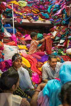 Fabric shop, Jaipur, India                                                                                                                                                     More